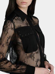 Дантелена риза със златисти капси от Liu Jo