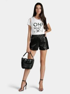 Кожени къси панталони от Liu Jo