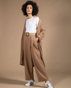 Панталони Pantalone Contropiega Camel от магазин Azuri