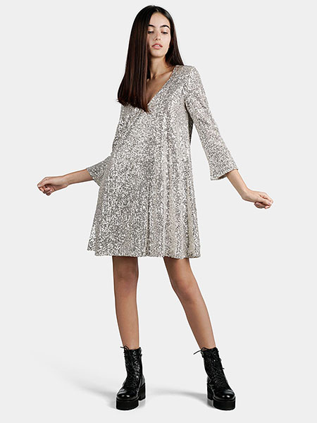 Разкроена къса рокля с пайети от Trussardi Jeans