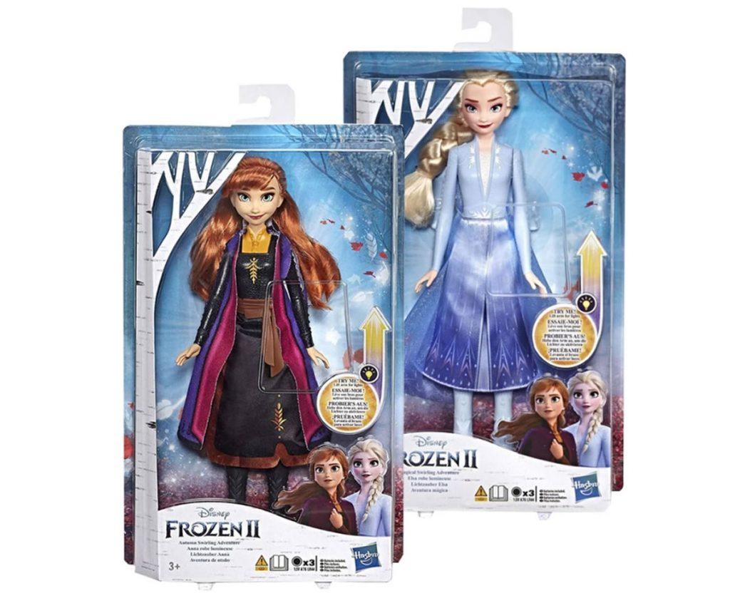 Кукла Анна и Елза от замразеното кралство 2 със светеща рокля от маказин Комсед