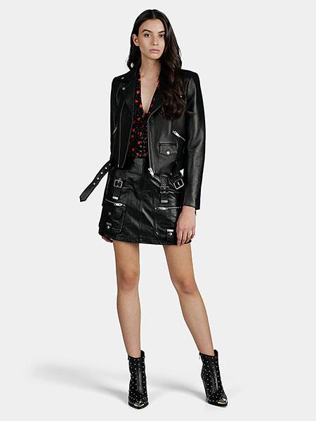 Черна кожена пола от The Kooples