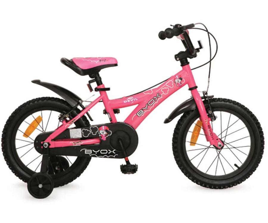 Детски велосипед 16'' розов от магазин Комсед