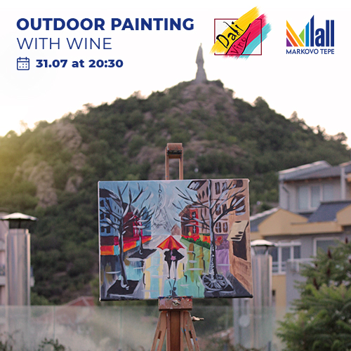 Painting and outdoor wine with Dali Vino art gallery