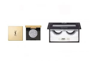 Изкуствени мигли за опушен грим Douglas Accessories и блестящи моно сенки за очи Yves Saint Laurent Sequin Crush Mono