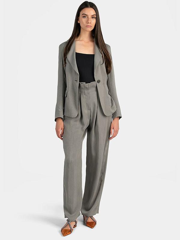 Сако с класически ревер и панталони с висока талия Emporio Armani от Scandal