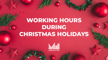 Working hours during Christmas Holidays 2020