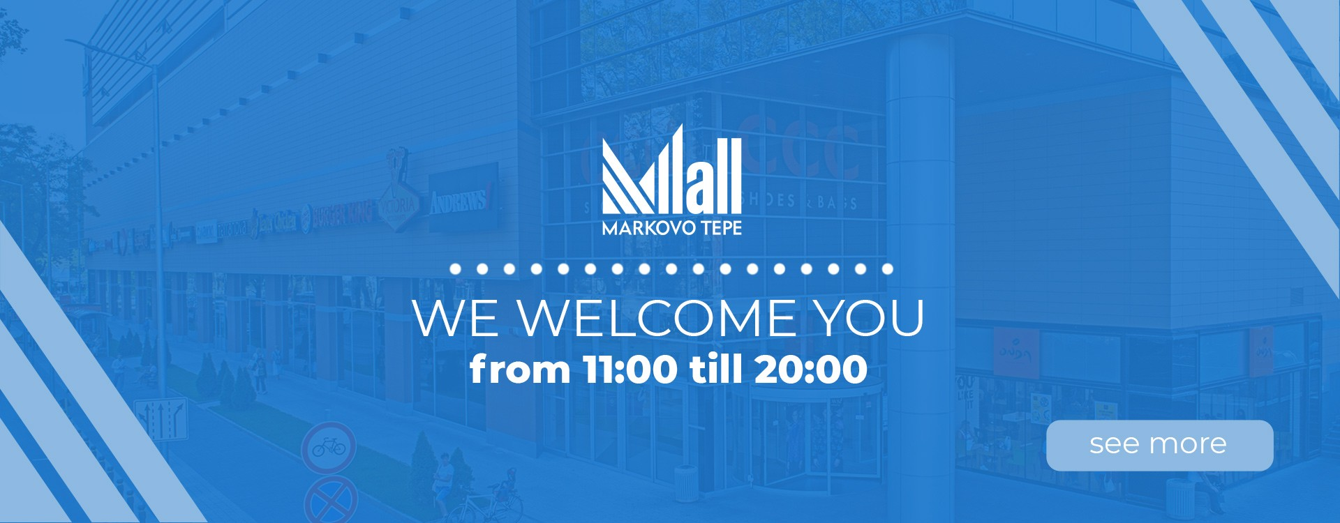 We welcome you from 11:00 untill 20:00